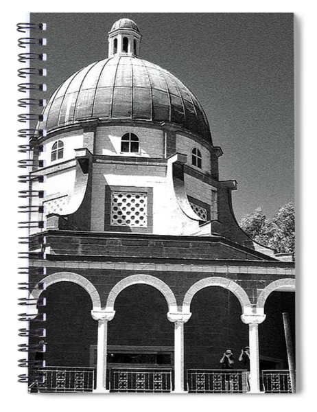 Church Of The Beatitudes B/w Spiral Notebook