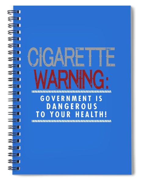 Cigarette Warning Spiral Notebook