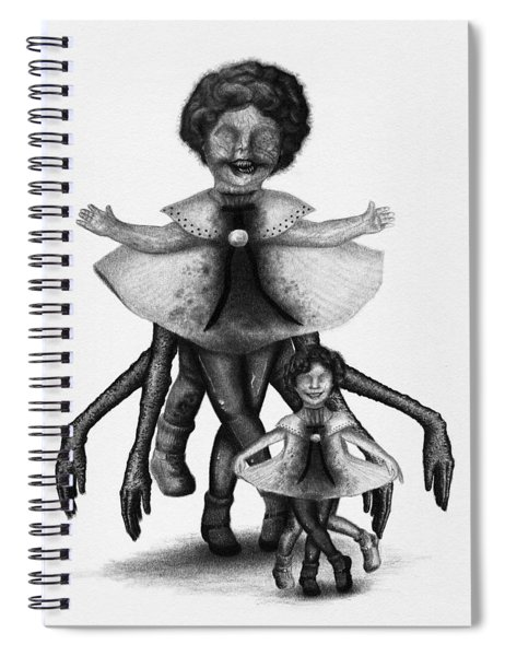 Cindy And Her Monstrous Doll - Artwork Spiral Notebook