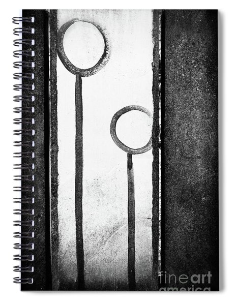 Circled Lines Spiral Notebook