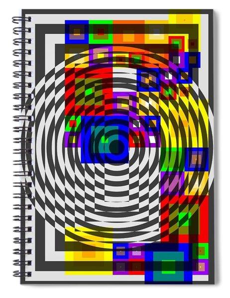Circular Colour Fusion  Spiral Notebook
