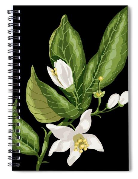 Citrus Blossom Spiral Notebook