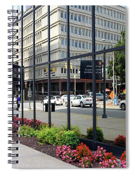 City Life Reflected Spiral Notebook