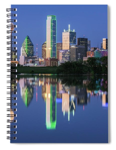 Spiral Notebook featuring the photograph City Of Dallas, Texas Reflection by Robert Bellomy