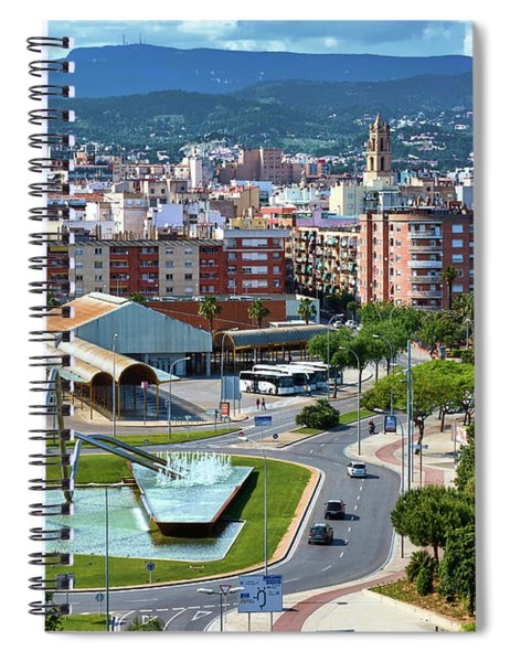 Cityscape In Reus, Spain Spiral Notebook
