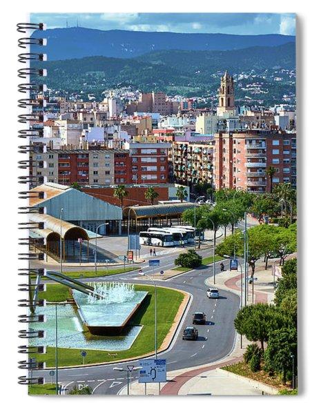 Cityscape In Reus, Spain Spiral Notebook