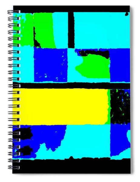 Cityscapec 4000 Original Fine Art Painting Digital Abstract Triptych Spiral Notebook