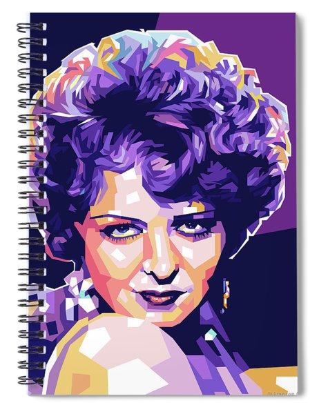 Clara Bow Pop Art Spiral Notebook