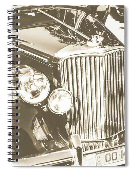 Classic Car Chrome Spiral Notebook
