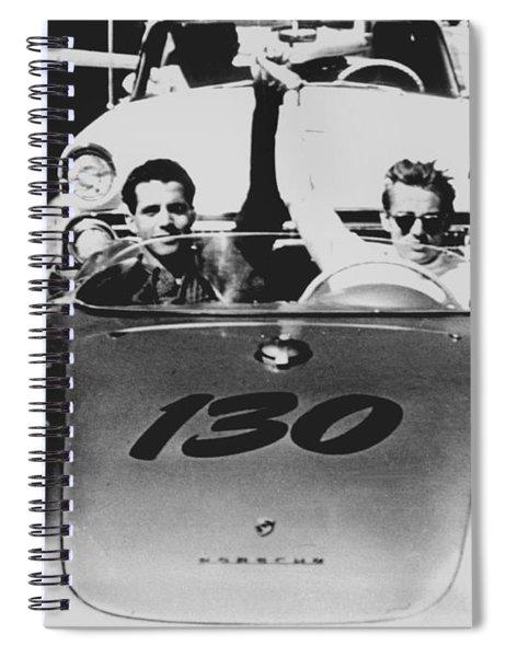 Classic James Dean Porsche Photo Spiral Notebook