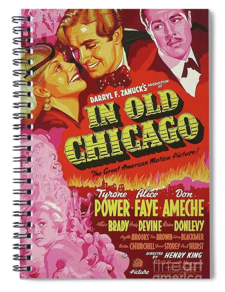 Classic Movie Poster - In Old Chicago Spiral Notebook