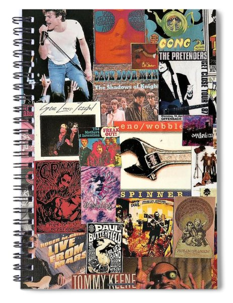 Classic Pop Rock Music Collage 4 Spiral Notebook