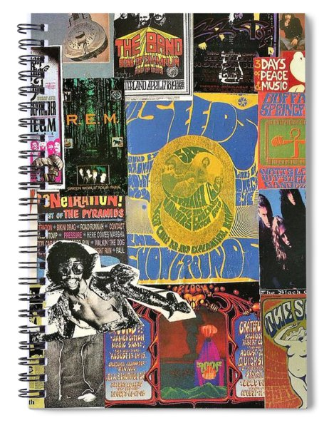 Classic Rock Collage 5 Spiral Notebook