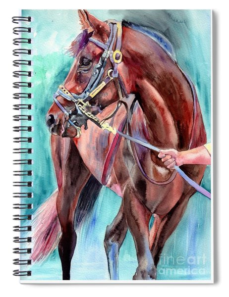 Classical Horse Portrait Spiral Notebook
