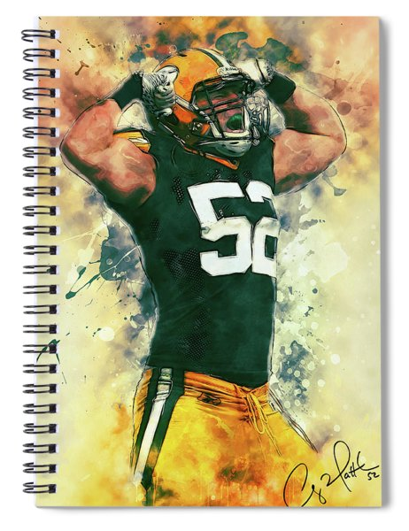 Clay Matthews Spiral Notebook
