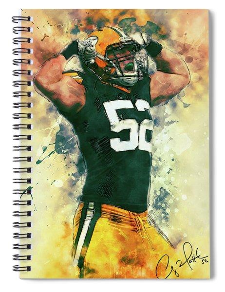 Clay Matthews Spiral Notebook