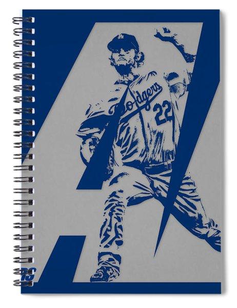 Clayton Kershaw Los Angeles Dodgers City Art 1 Spiral Notebook