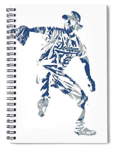 Clayton Kershaw Los Angeles Dodgers Pixel Art  100 Spiral Notebook