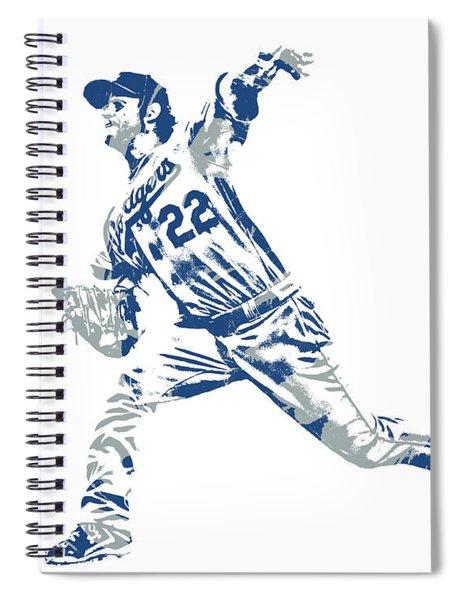 Clayton Kershaw Los Angeles Dodgers Pixel Art 30 Spiral Notebook