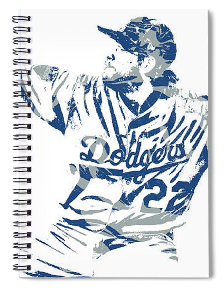 Clayton Kershaw Los Angeles Dodgers Pixel Art 50 Spiral Notebook