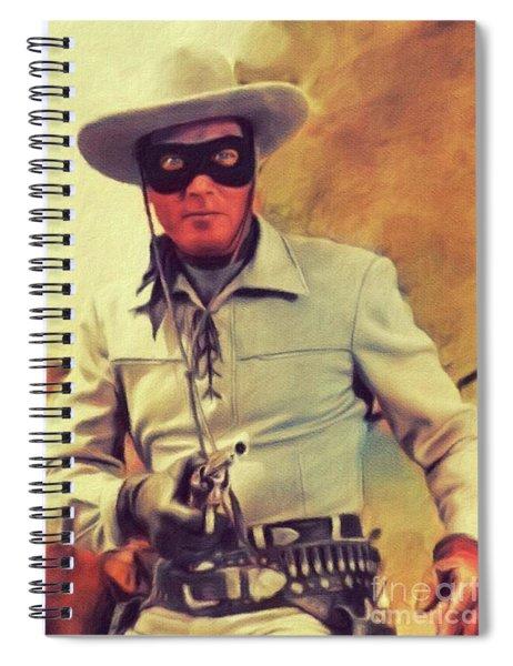 Clayton Moore, Vintage Actor Spiral Notebook