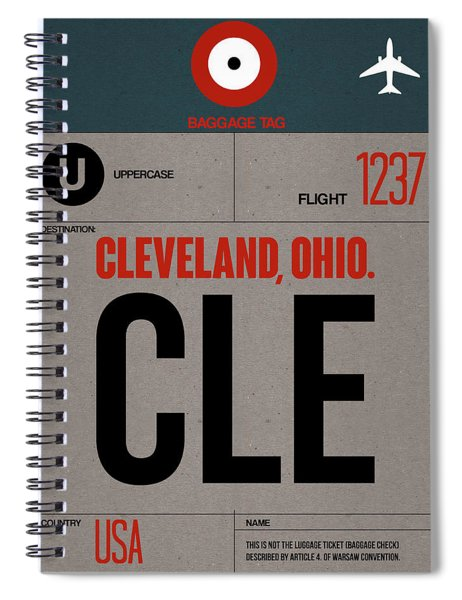 Cle Cleveland Luggage Tag I Spiral Notebook