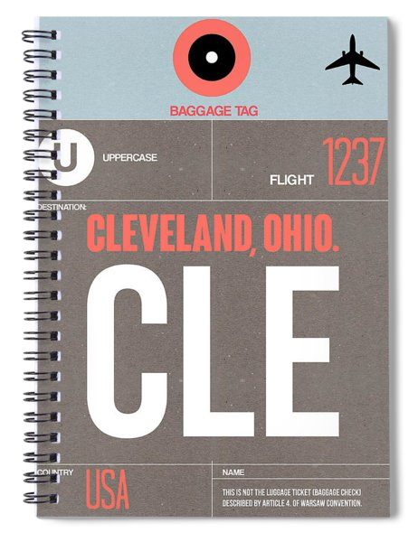 Cle Cleveland Luggage Tag II Spiral Notebook