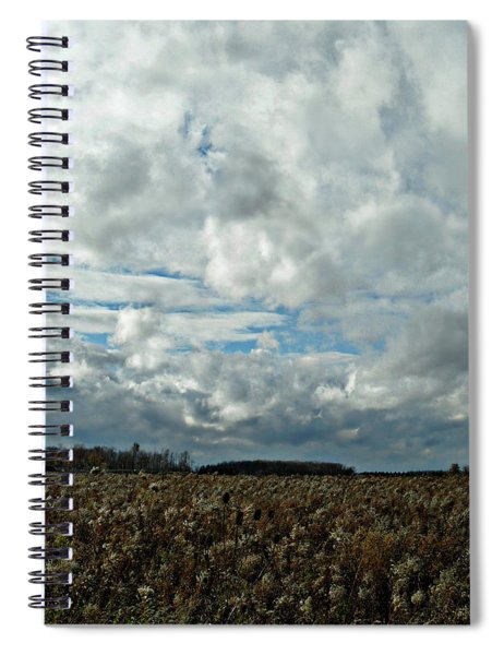 Clear Cloudy Day Spiral Notebook