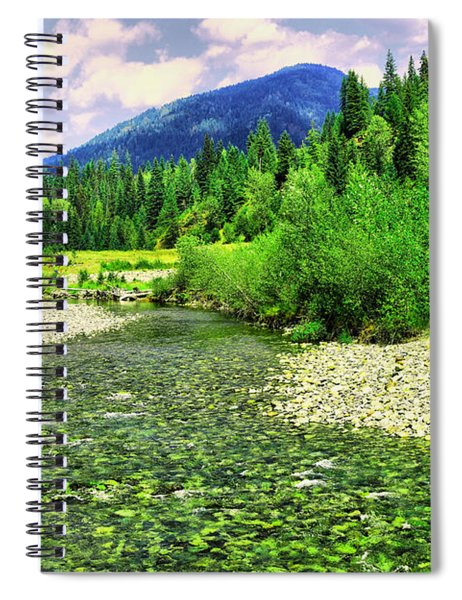 Clear Colorado Water Spiral Notebook