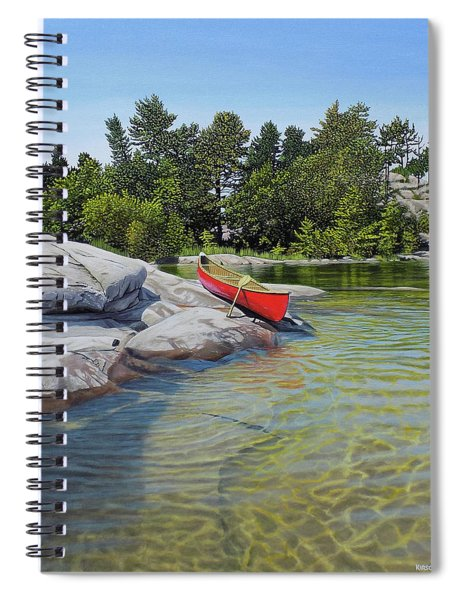 Clear Reflections Spiral Notebook