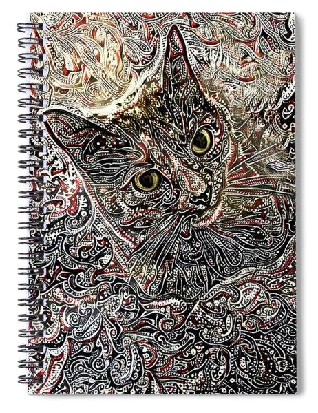 Cleo The Tortoiseshell Cat Spiral Notebook