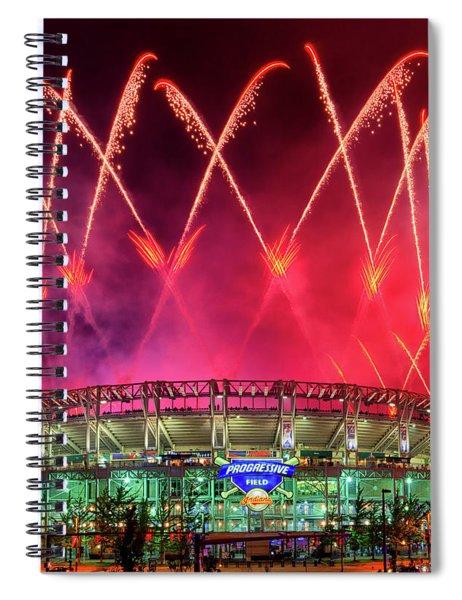 Cleveland Indians Fireworks Spiral Notebook