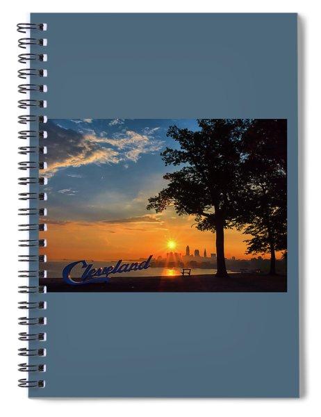 Cleveland Sign Sunrise Spiral Notebook