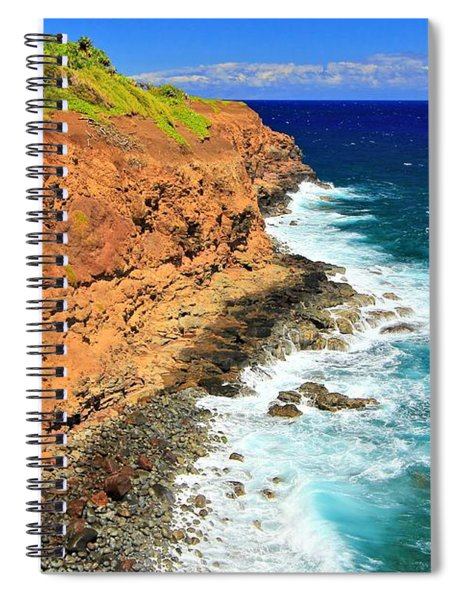 Cliff On Pacific Ocean Spiral Notebook