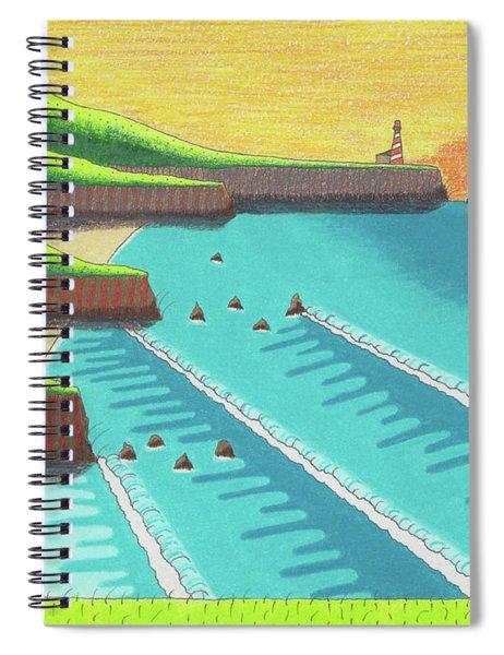 Cliffside Sunset  Spiral Notebook