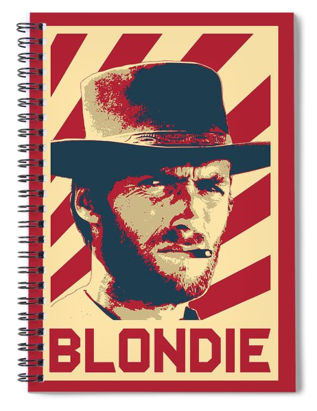 Clint Eastwood Blondie Retro Propaganda Spiral Notebook
