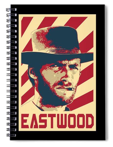 Clint Eastwood Retro Propaganda Spiral Notebook
