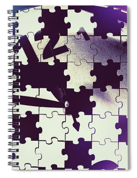 Clock Holes And Puzzle Pieces Spiral Notebook