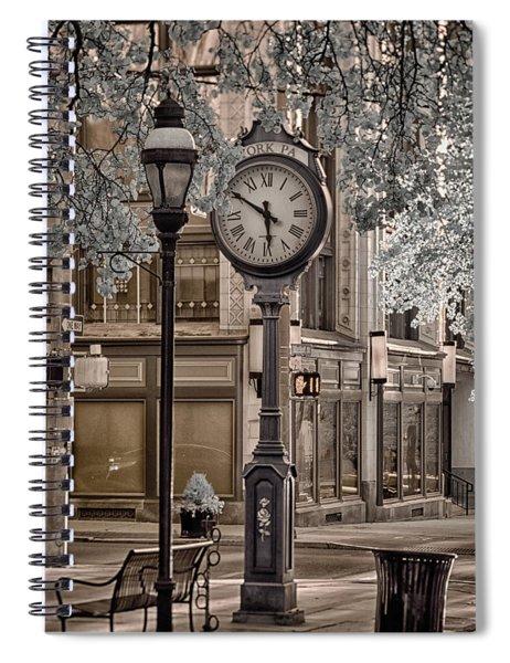 Clock On Street Spiral Notebook
