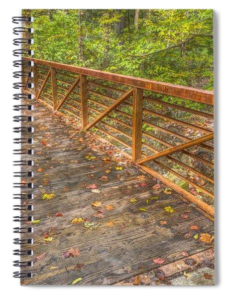 Close Up Of Bridge At Pine Quarry Park Spiral Notebook