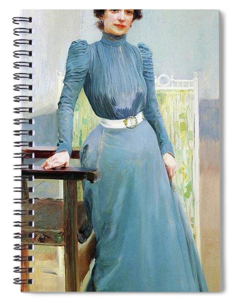 Clotilde In A Grey Dress - Digital Remastered Edition Spiral Notebook