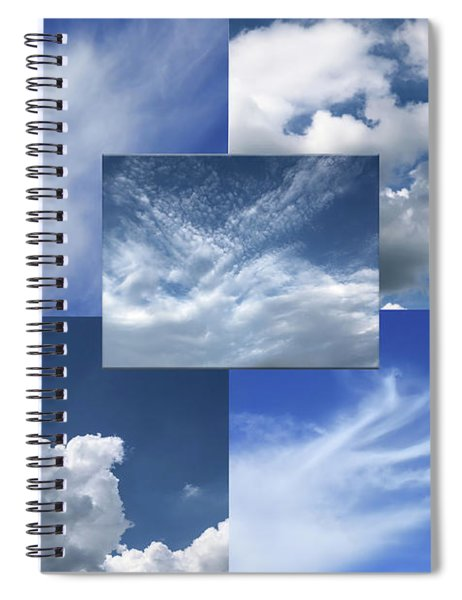 Cloud Collage Two Spiral Notebook