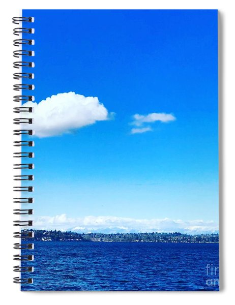 Cloud In Blue Spiral Notebook