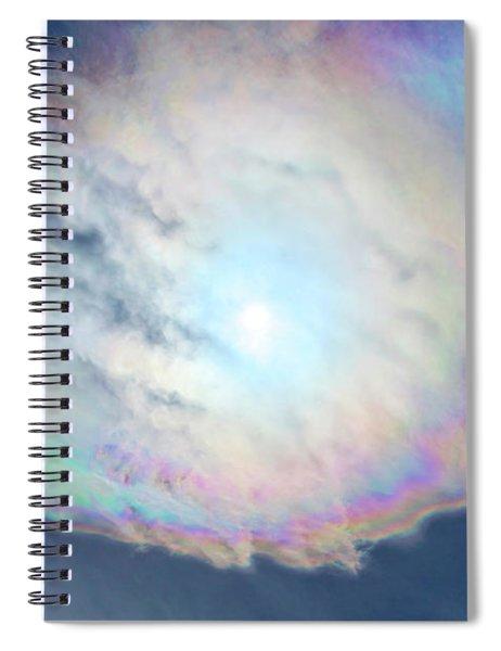 Cloud Iridescence Spiral Notebook