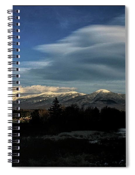 Cloud Lens Over The Presidential Range Spiral Notebook