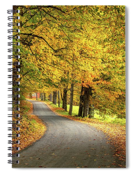 Spiral Notebook featuring the photograph Cloudland Drive by Rod Best