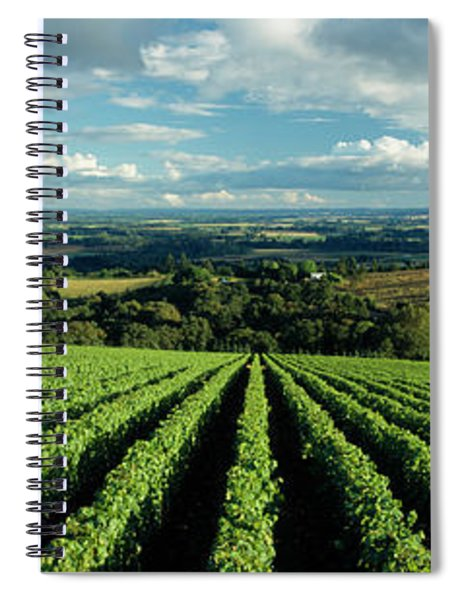 Clouds Over Vineyards, Domaine Drouhin Spiral Notebook