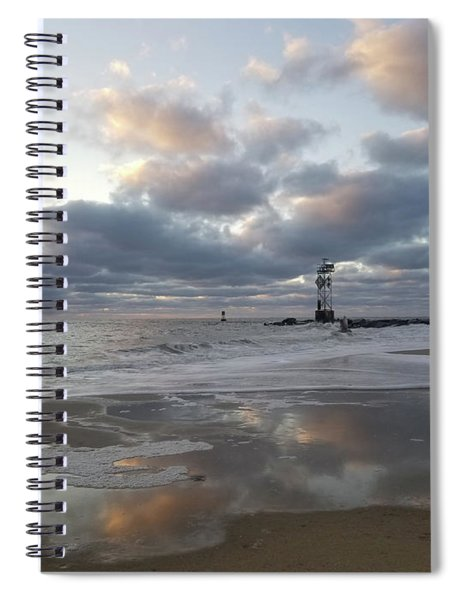 Cloud's Reflections At The Inlet Spiral Notebook