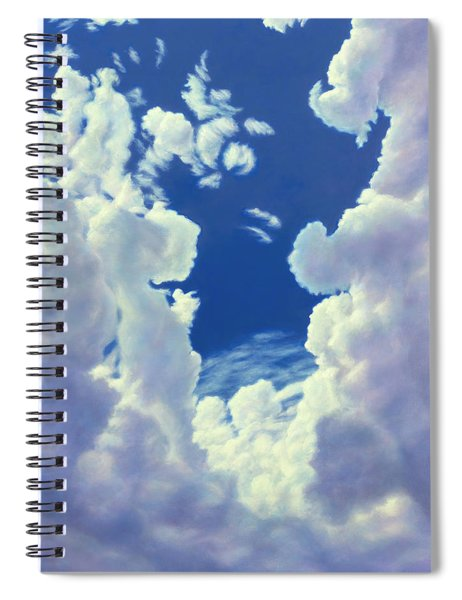 Cloudscape - 8-27-18 Spiral Notebook by James W Johnson