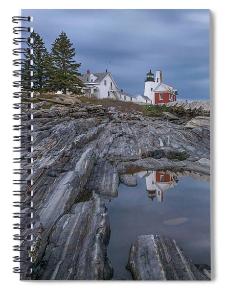 Cloudy Afternoon At Pemaquid Point Spiral Notebook